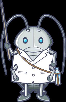 ウスヒラタゴキブリを説明するゴキワン
