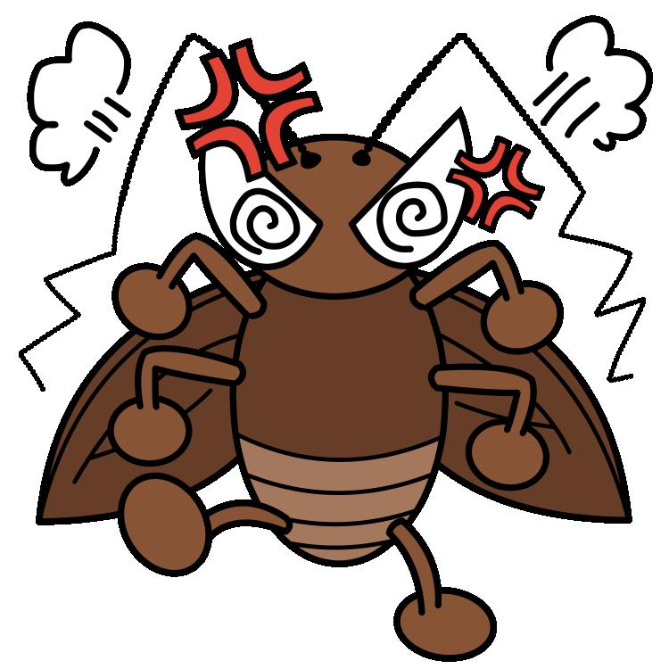 怒るゴキブリ