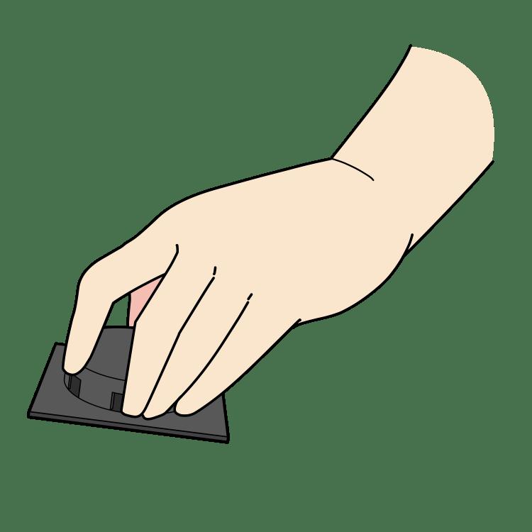 捕獲器を設置する手