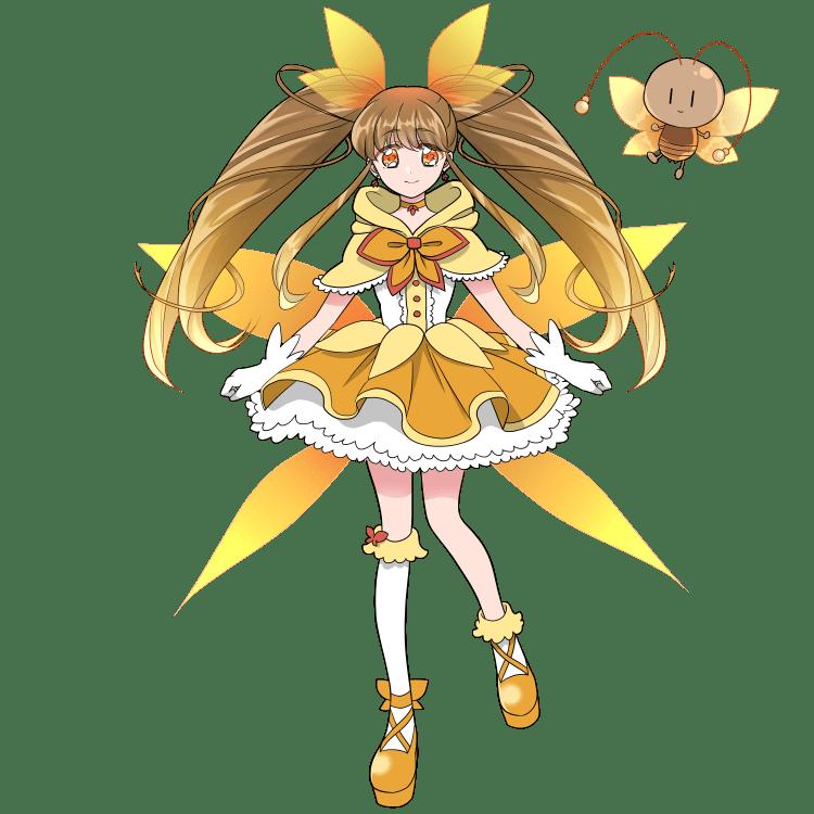 擬人化:魔法少女になったメスゴキブリ(立ち絵)