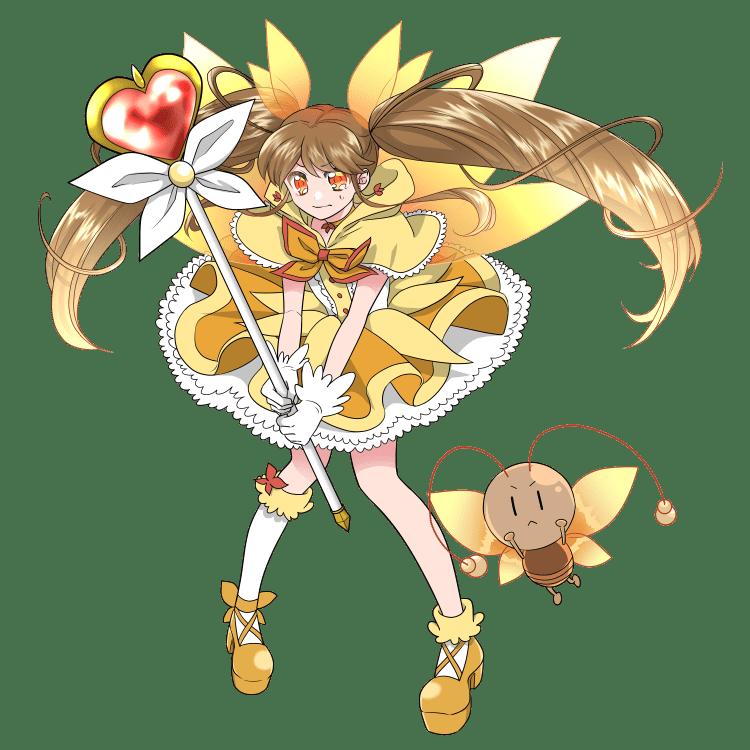 擬人化:魔法少女になったメスゴキブリ(戦闘ポーズ)