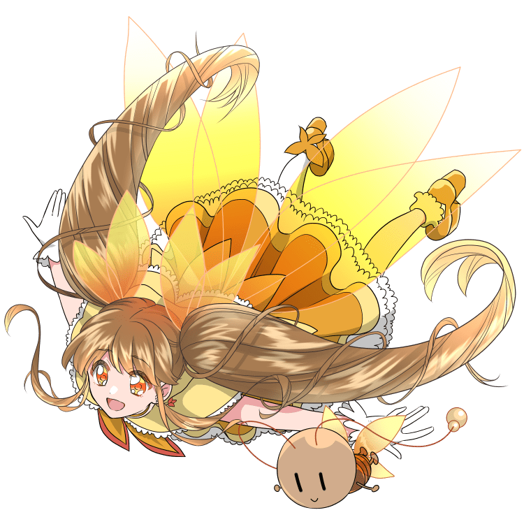 擬人化:魔法少女になったメスゴキブリ(空を飛ぶポーズ)