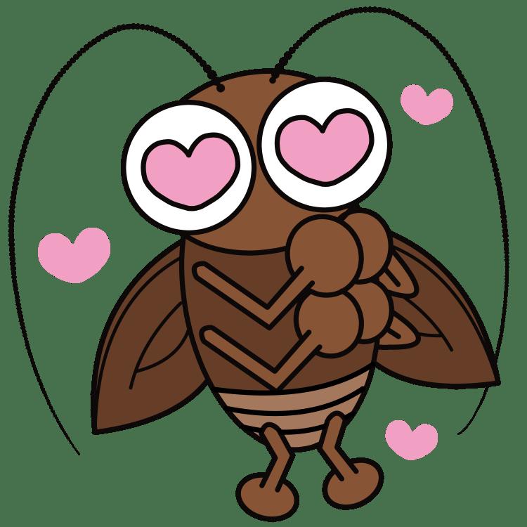 目がハートのゴキブリ