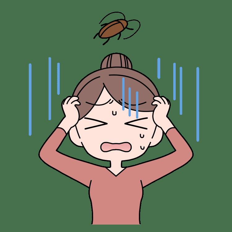 ゴキブリに悩む女性