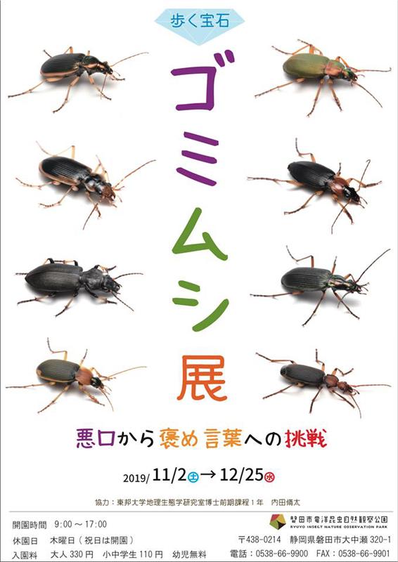 「ゴミムシ展」のポスター