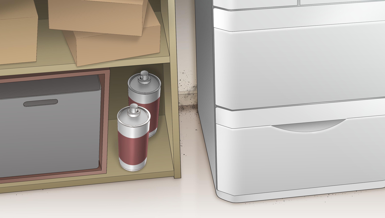 冷蔵庫や棚の隙間