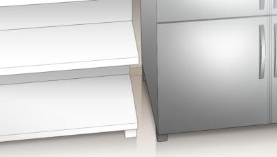 冷蔵庫や厨房機器の隙間