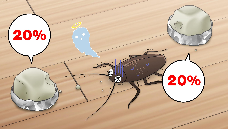 ホウ酸含有量20%のホウ酸団子を食べて死ぬゴキブリ