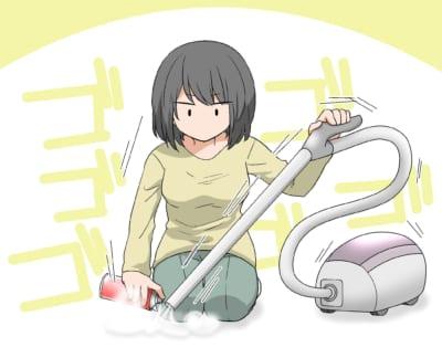 掃除機でゴキブリを吸ってから殺虫剤も吸う
