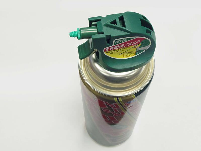 ゴキジェットプロゴキブリ用殺虫スプレーの噴射口