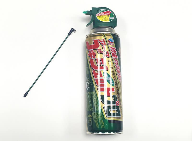 アース製薬「ゴキジェットプロ ゴキブリ用殺虫スプレー」の着脱式ノズル