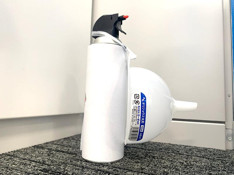 「UV剤配合 荷造りロープ 3mm×50m」を「AZジョウゴ丸形9cm」をかけた殺虫剤