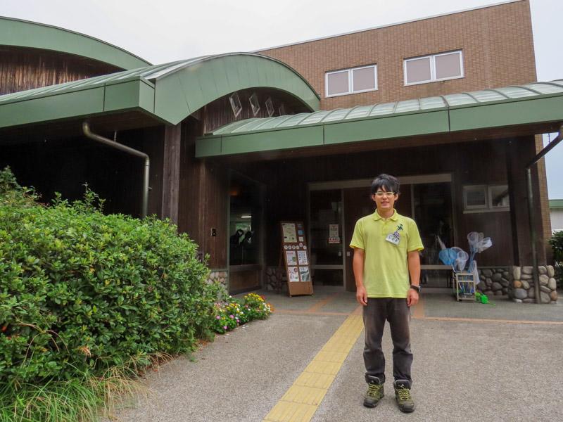 磐田市竜洋昆虫自然観察公園の柳澤静磨さん