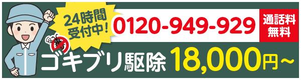 24時間受付中!0120-949-929電話料無料ゴキブリ駆除18,000円~