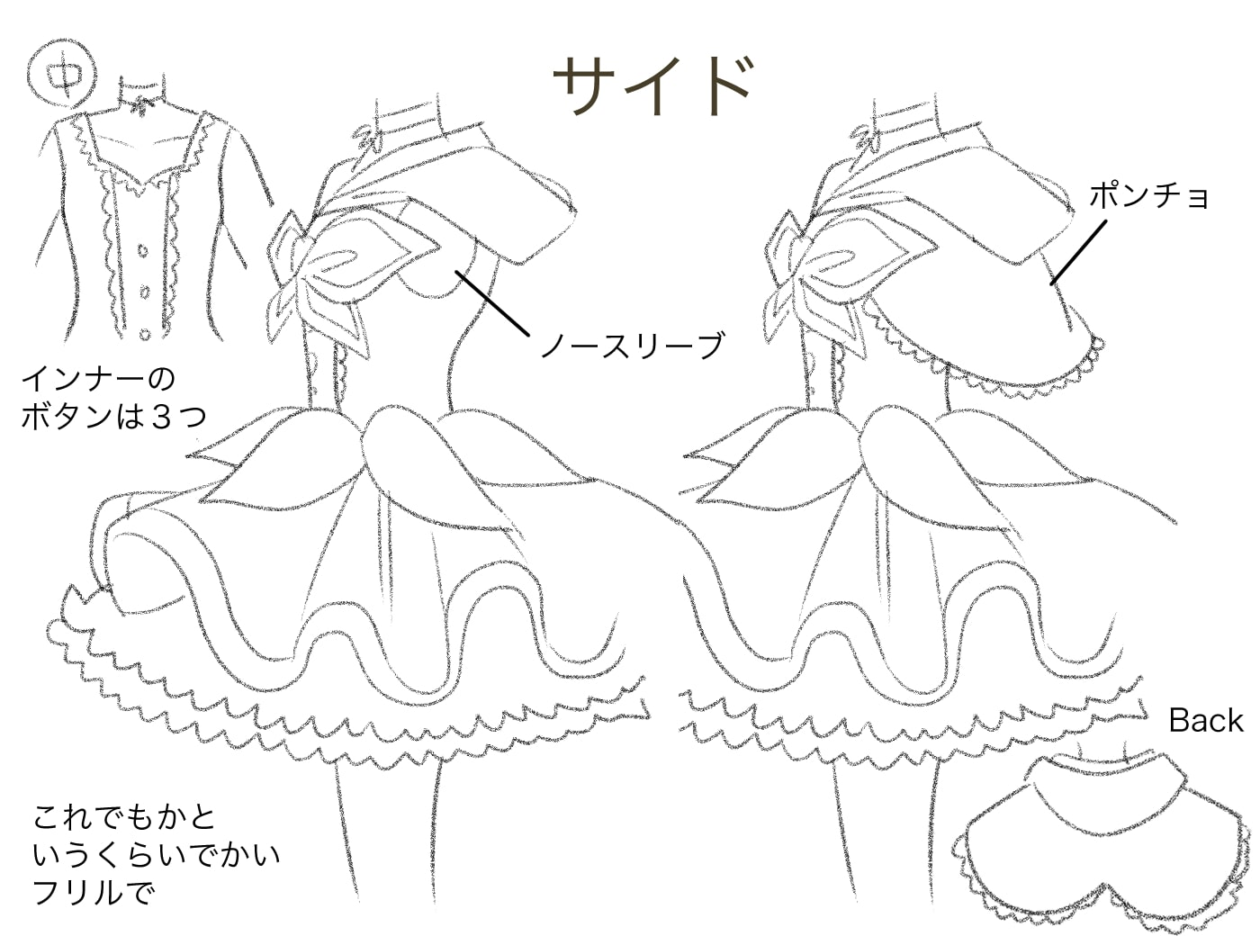 衣装デザイン・側面