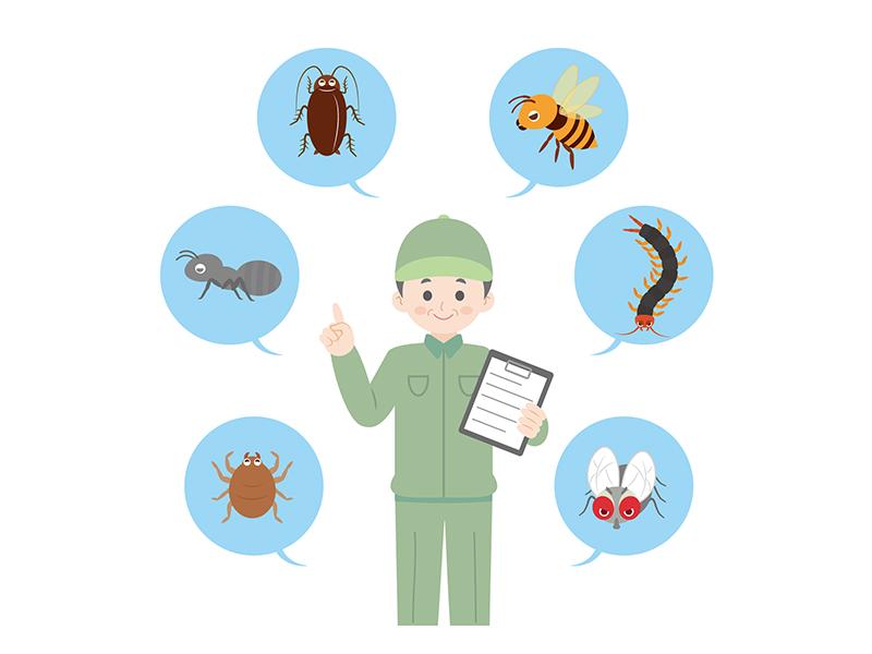 ゴキブリ駆除業者のイラスト