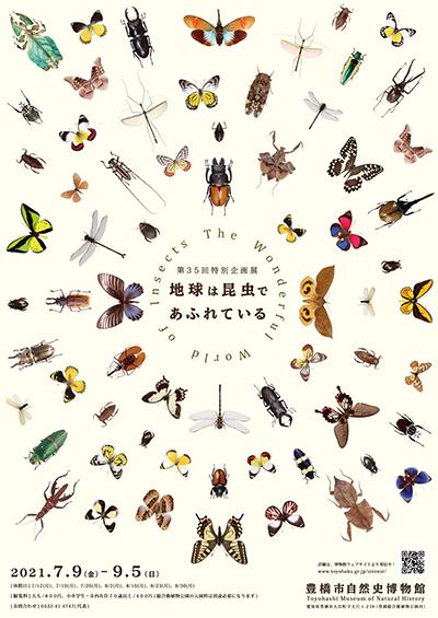 地球は昆虫であふれているのポスター