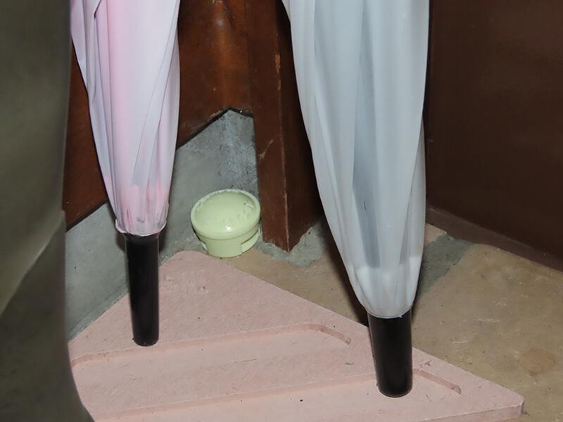 ゴキブリ対策のために玄関に置いたベイト剤