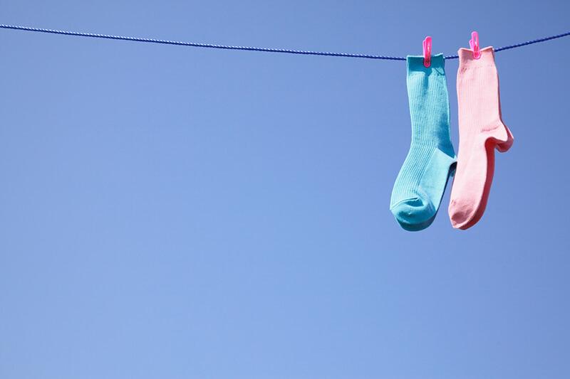 洗濯物を干すと気持ちいいような晴れの昼間